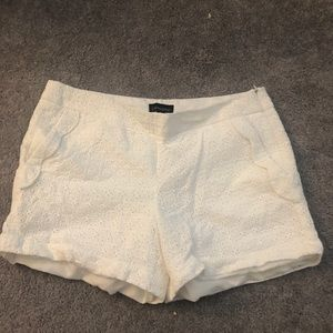 Cynthia Rowley White Detailed Shorts